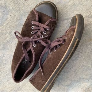 BODEN suede brown flat slip on classic sneaker 38